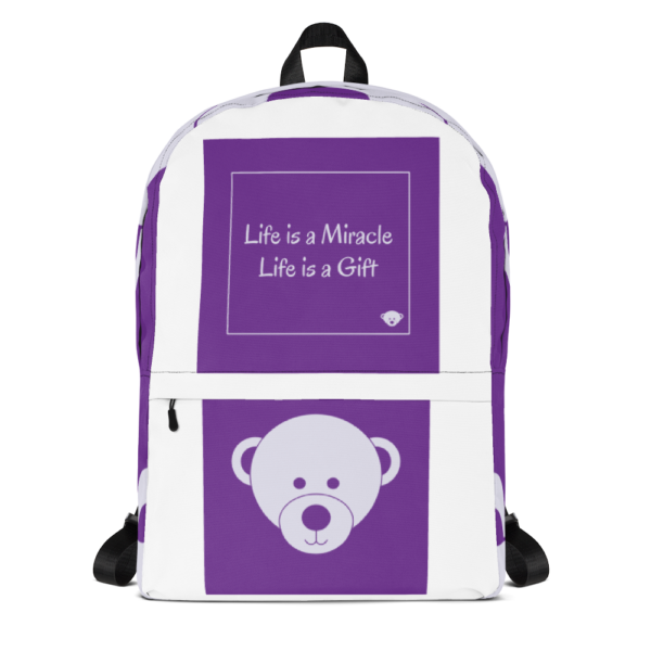 Gift of Life Purple and White Backpack 6