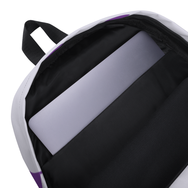 Gift of Life Purple and White Backpack 8