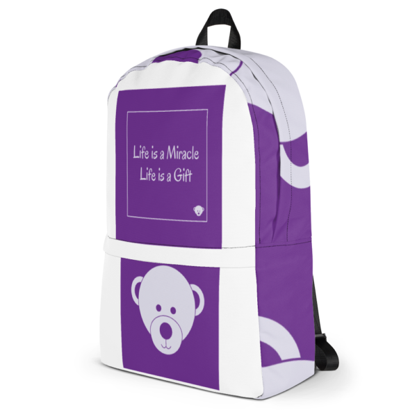 Gift of Life Purple and White Backpack 10