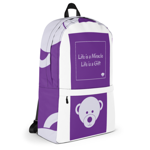 Gift of Life Purple and White Backpack 13